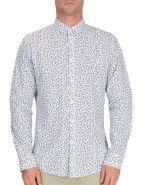 Ben Sherman Long Sleeve Leaf Printed Shirt $129.95 #fashion #style #blue #trend #shop #menswear #print