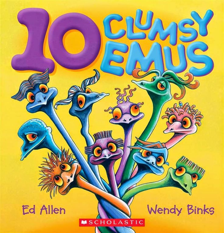10 Clumsy Emus by Ed Allen and illustrated by Wendy Binks