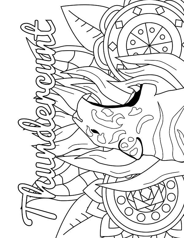 Tiger Adult Coloring Page Swear 14 Free Printable Coloring
