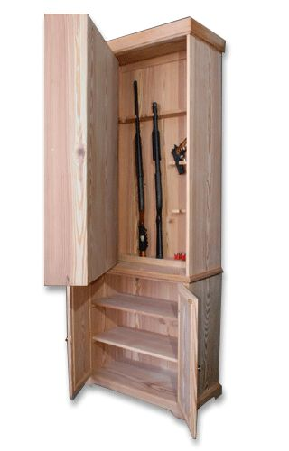 Ooooh I loooove it... Maybe find it behind the built ins or book cases??? Gun cabinet hidden behind bookcase