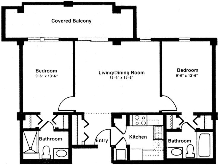 86 best images about floor planning on pinterest house for Small two bedroom apartment floor plans