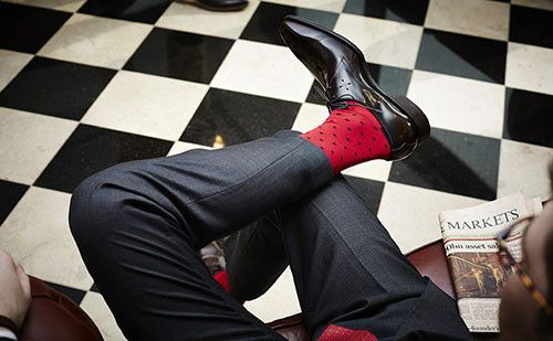 The Henry Red & Navy Men's Socks #navy #menswear #socks #fashion #dapper