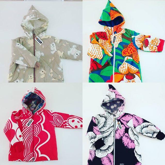 Kids winter coats on super sale at #hoppudesign facebook!   #ethicalfashion #eettisetvaatteet #ecoclothing #retrotyg #kierrätys #sustainable #tampella #retrokangas