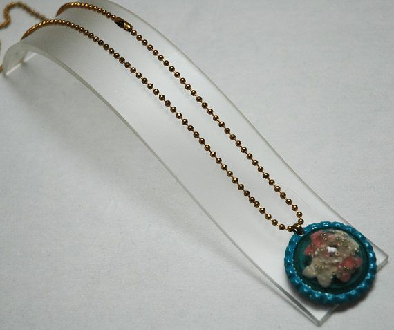Resin Necklace Bottlecap Necklace Butterfly by KwaiJewellery, $29.95