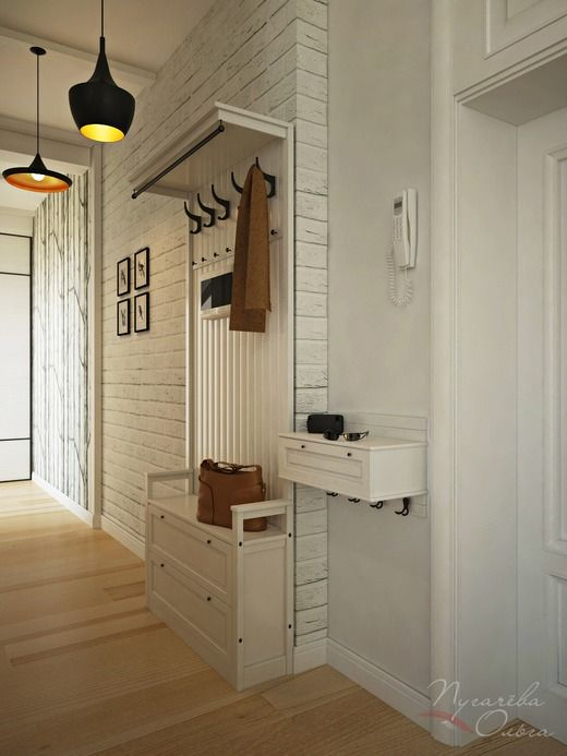 Квартира в скандинавском стиле. Коридор; Холл