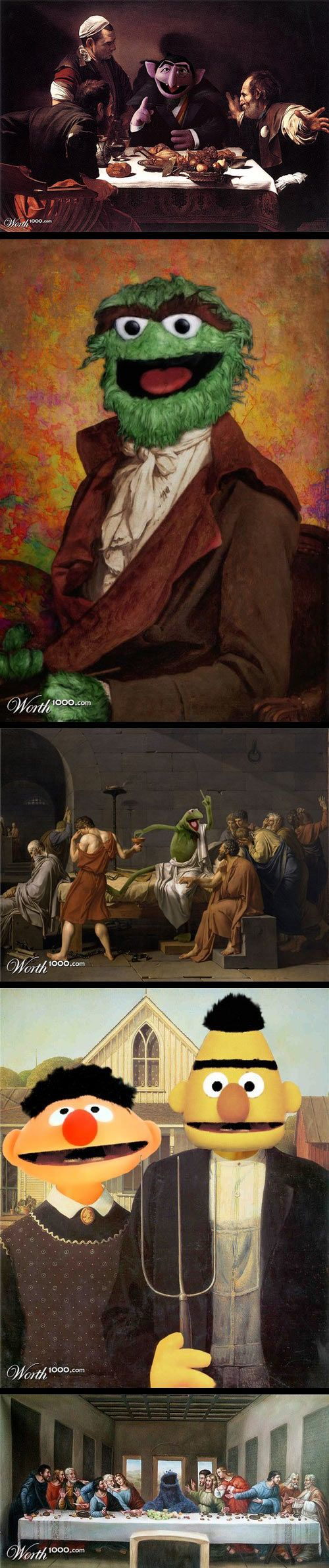 Classic Paintings with Sesame Street Characters Part 2