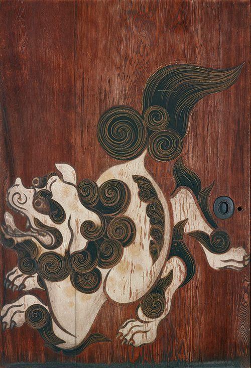 Tawaraya Sotatsu 重要文化財 唐獅子図杉戸(右) 俵屋宗達筆 京都・養源院