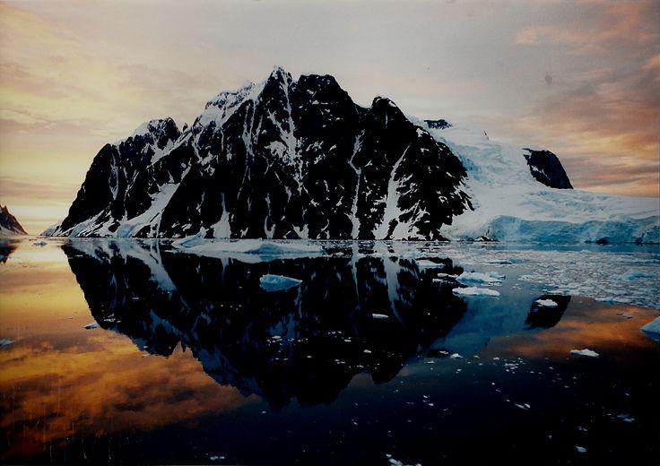 Antarctica sunset colour