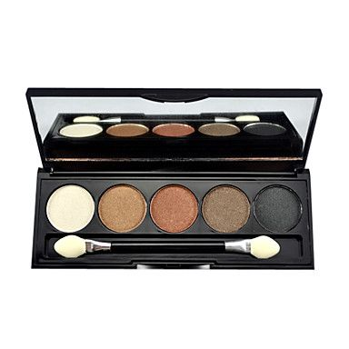 5 Colors Makeup Eye Shadow Palette with Free Brush – USD $ 3.99