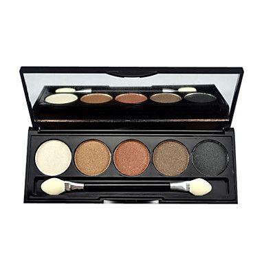 5 väriä meikki luomiväri paletti ilmainen harjalla – USD $ 3.51