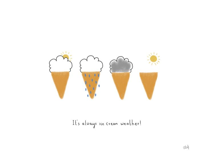 Rain or shine, we've got ice cream on our mind. #IceCream #Inspiration