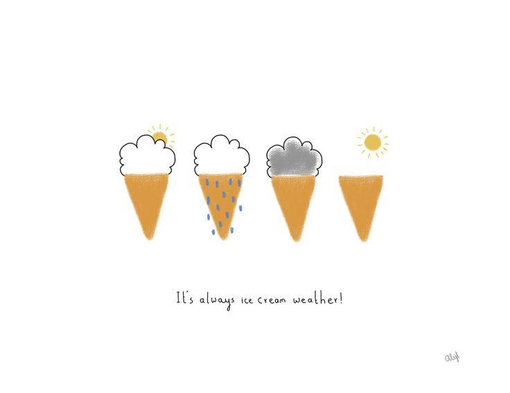 Rain or shine, we've got ice cream on our mind. #IceCream #Inspiration