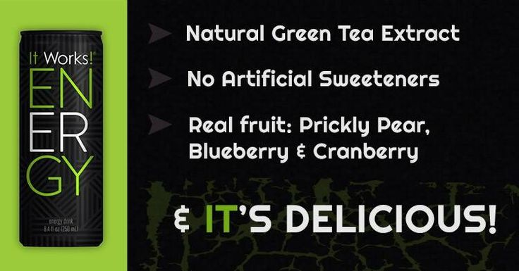 Love our new Energy Drink. The test is amazing and it definitely gives me the energy I need. pamwillett.myitworks.com