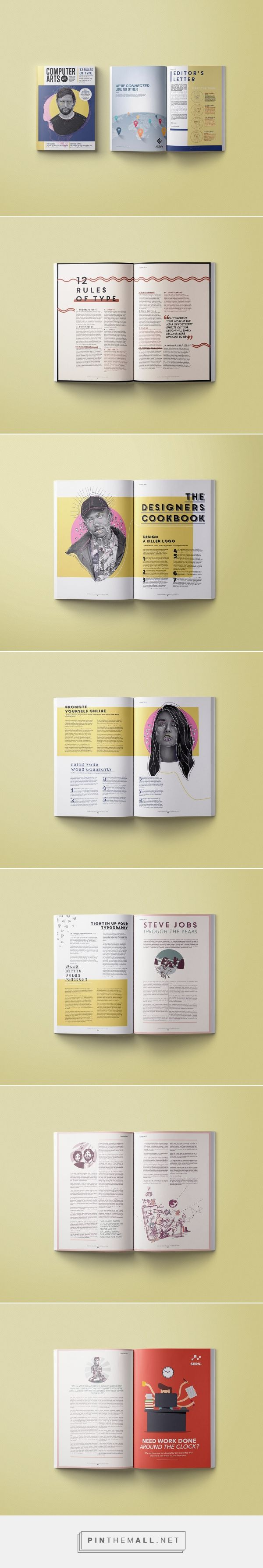 Computer Arts Magazine layout design by Jolanda van Rooyen