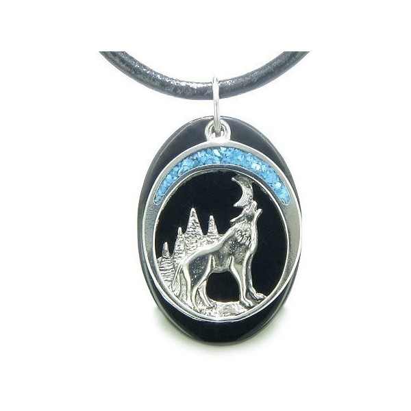 Best\ Amulets Howling Wolf And Moon Amulet Spiritual Protection Powers... ❤ liked on Polyvore