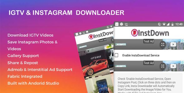 Instagram and IGTV Photo Video Downloader Nulled | Nulled Wordpress