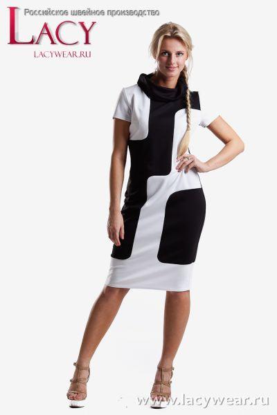 Стильное трикотажное платье полупритален... Стильная одежда для женщин. Аксессуары для женщин.