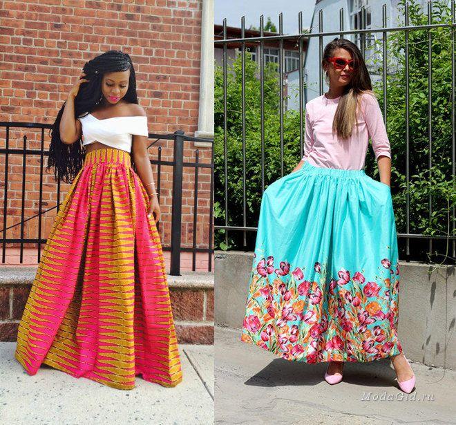 Уличный стиль лета 2015: модные образы с длинной юбкой