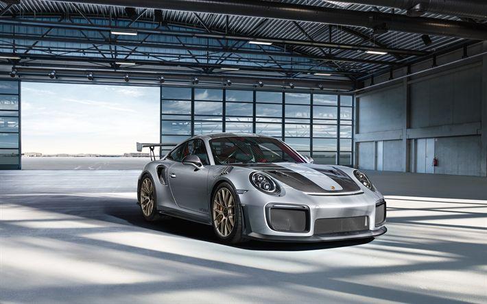 Download wallpapers Porsche 911 GT2 RS, supercars, 2018 cars, german cars, Porsche