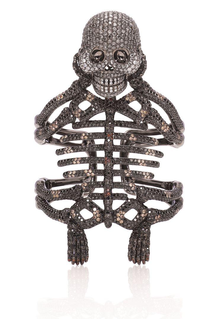 Wendy Yue SS14 Skeleton Cuff