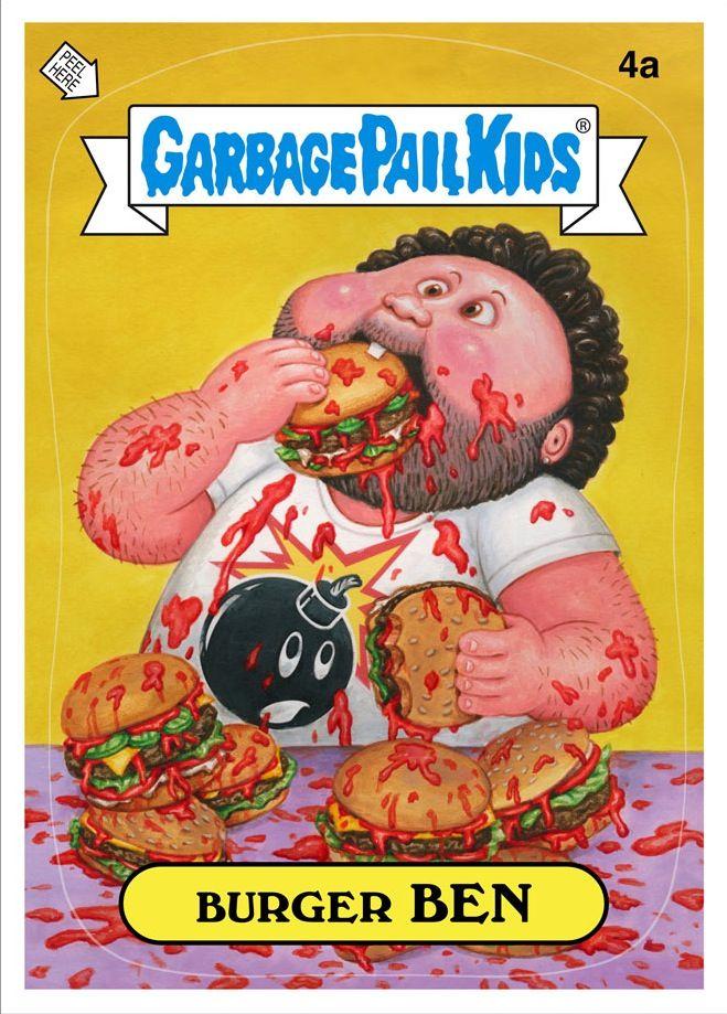 Burger ben | gpk | pinterest | garbage pail kids, garbage pail.
