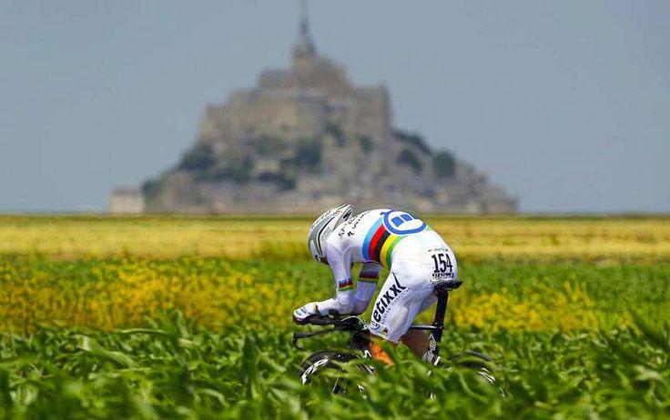 Toni Martin,  ganador de la contrarreloj.  Tour 2013
