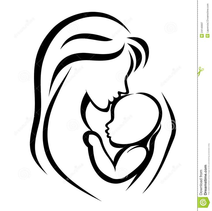 Mother And Baby Symbol - Download From Over 45 Million High Quality Stock Photos, Images, Vectors. Sign up for FREE today. Image: 24140697
