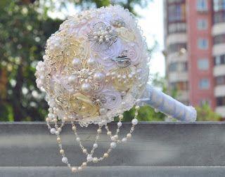 Tina's handicraft : How to make a bouquet for wedding - photo tutorial...
