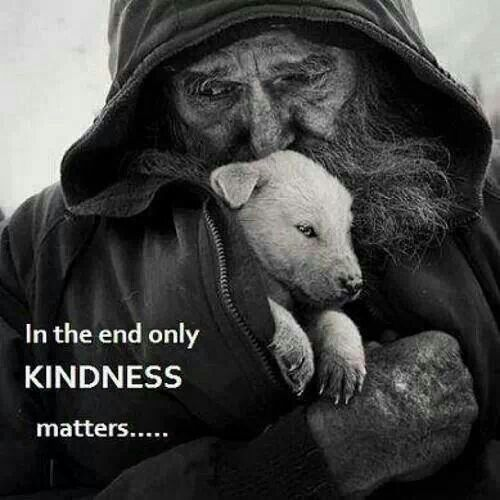 Real Men are Kind to Animals... even in the worst circumstances.