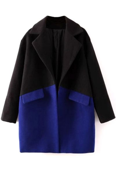 OASAP GLAMOROUS COLOR-BLOCKED COAT