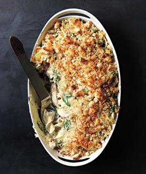 Chicken, Spinach, and Noodle Casserole recipe