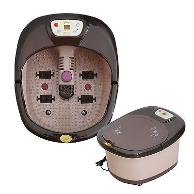 Soozier Heated Foot Spa Message Deluxe Bathing Massager Bath Vibration