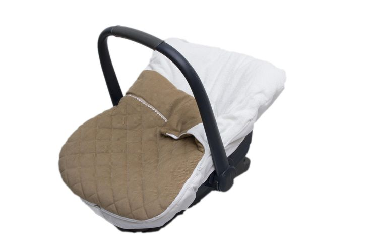 carseat cover Fabs World   #stitched #quilted # corduroy #beige #Fabs Wold #removeable footmuff  shop:Fabs Store