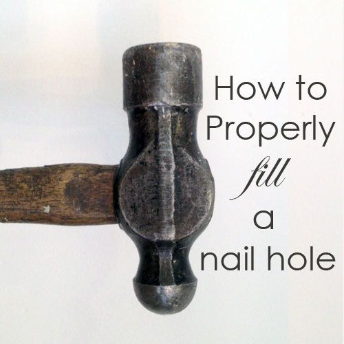 How to fill a nail hole in your wall the right way. No toothpaste, no nail polish, no glue or caulking.
