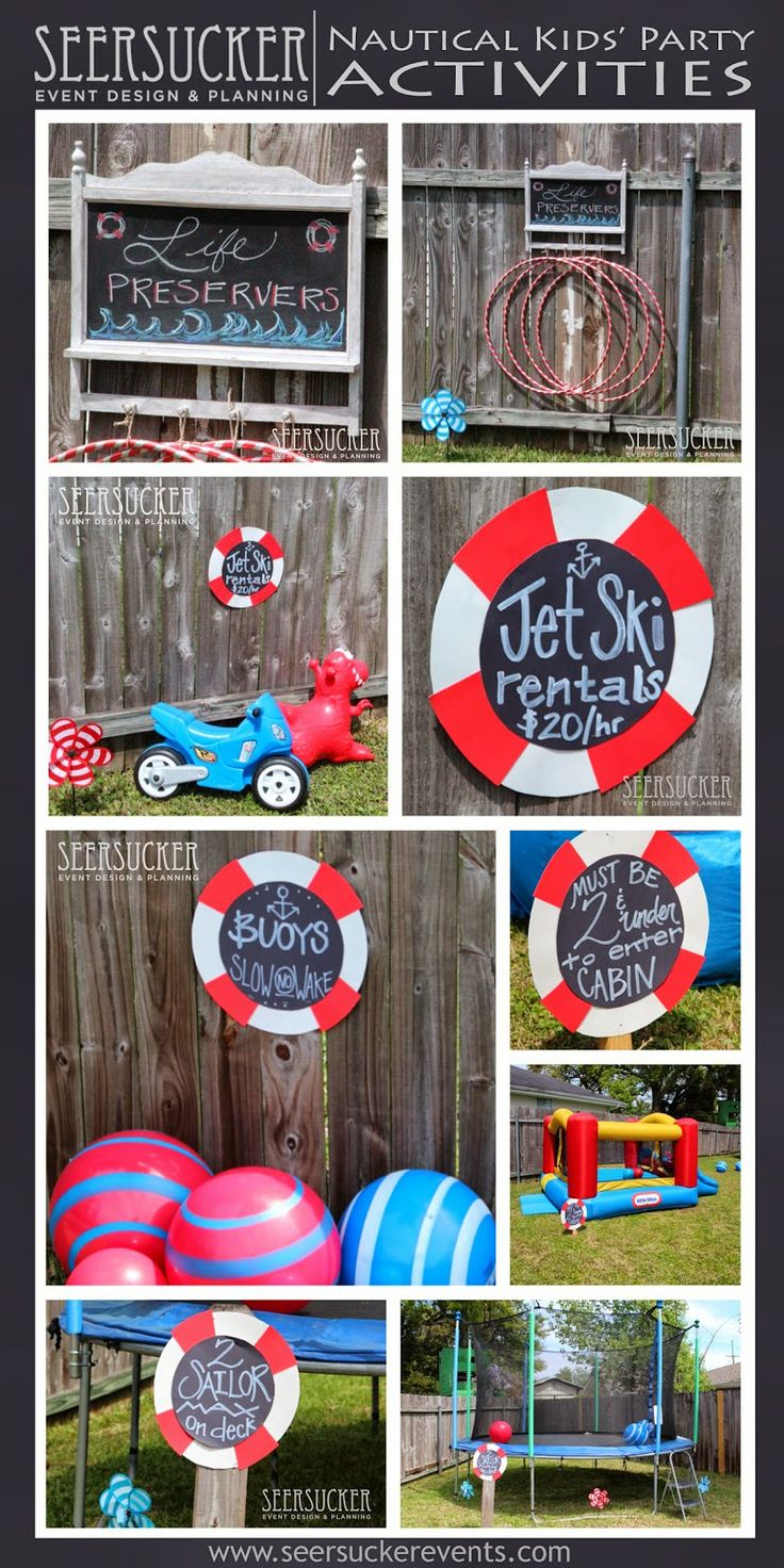 17 Best Images About Nautical Birthday Party On Pinterest