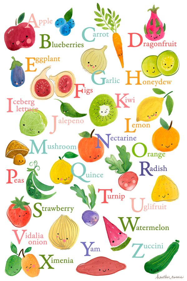 Food For Each Letter Of The Alphabet