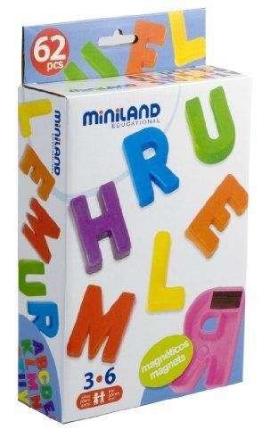 +3 anys Miniland 97925 - Caja de 62 letras magnéticas [Importado de Alemania] de Miniland, http://www.amazon.es/dp/B003U6H1OE/ref=cm_sw_r_pi_dp_RER8sb1QWB8H2 10€