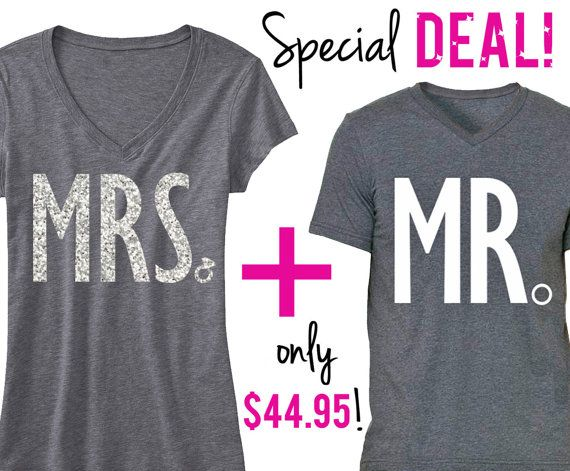 MRS #Bride Shirt  MR #Groom Shirt Special Deal by #NobullWomanApparel, for only $44.95! Click here to buy https://www.etsy.com/listing/198379735/mrs-bride-shirt-mr-groom-shirt-special?ref=shop_home_feat_2