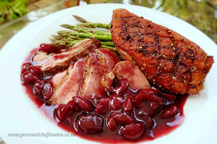 pepper crusted duck breast with cherry port sauce port ducks sauce see ...