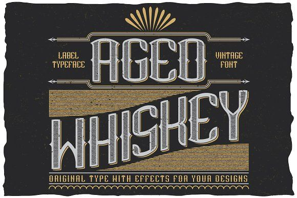 AgedWhiskey Typeface by Vozzy on @creativemarket