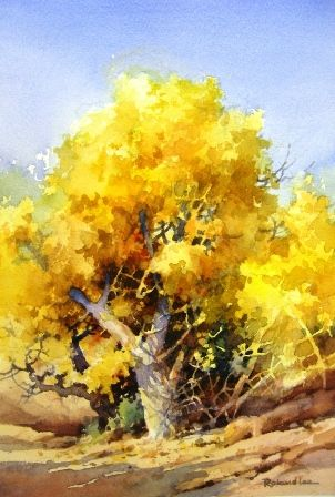 How to paint Foliage Using Negative Painting in Watercolor. This is a really lovely demonstration of how to paint a tree by Rowland Lee.