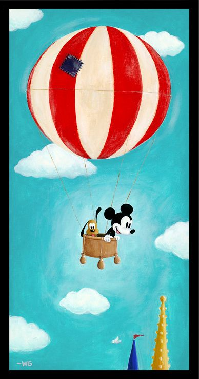 """Disney painting """"Floating Along"""" -Will Gay"""