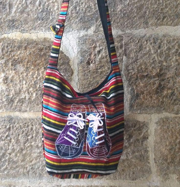 KARGO BİZDEN Rengarenk Heybe Çanta, Etnik İşlemeli Hobo Çanta kilim çanta , el dokuması otantik çanta, ayakkabı işlemeli bez  çanta Zet.com'da 38 TL
