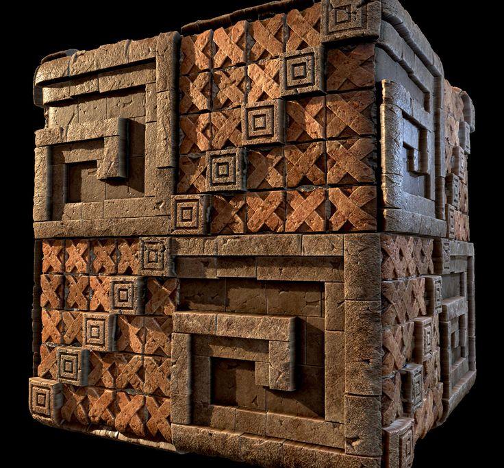 Mayan material, Aleix Serra on ArtStation at https://www.artstation.com/artwork/z94b6