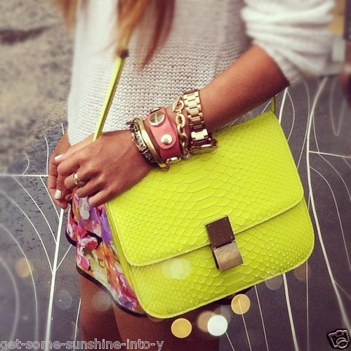 celine trio bag buy - Celine Neon Fluo Python Classic Box Bag | Box Bag, Python and Celine