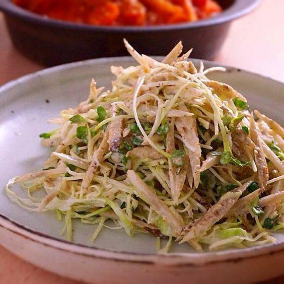 マヨネーズ+すりごまで美味しい、ごぼうサラダのつくり方     あさこ食堂