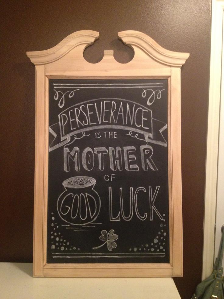 Irish Proverb St Patrick S Day Chalkboard Idea