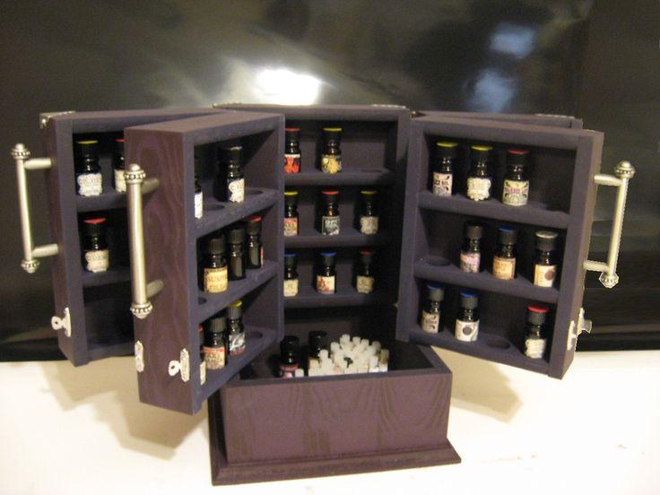 "BPAL essential oil 5 ml bottle storage ""Toniette's Treasure Box"""