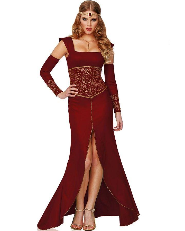Sexy women fancy elf fairy gown dress vampire medieval costume halloween cosplay