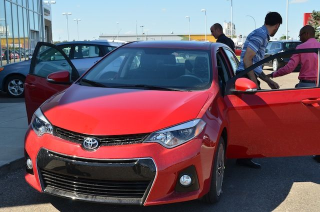 Just like bees to honey, we were all over this newly redesigned 2014 Corolla. It's amazing!